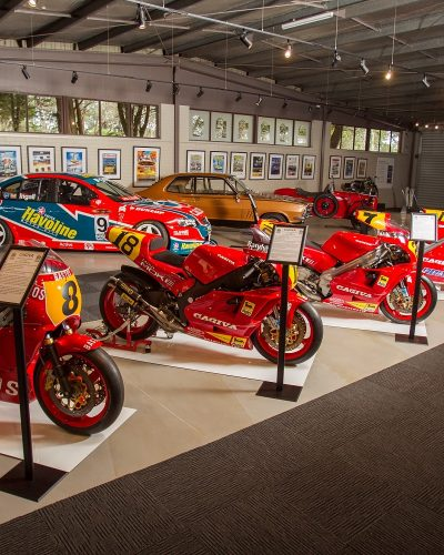 The History of Motorsport Display depicts Phillip Island's racing heritage from 1928 to present day